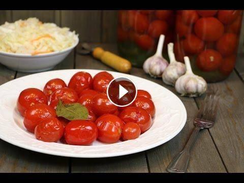 Рецепт сладких помидор маринование