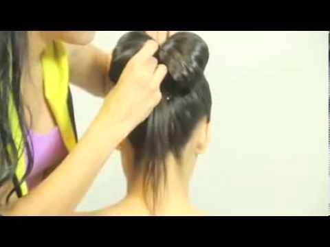 Причёска бант из волос ютуб