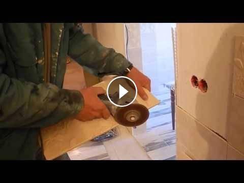 Как сделать отверстие под розетку в кафеле